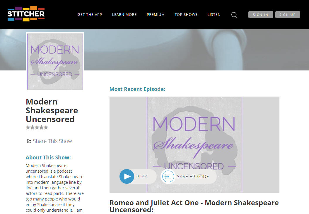 Stitcher Profile